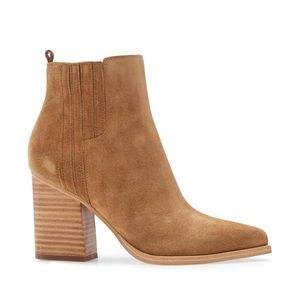 Marc Fisher Oshay Medium Natural Suede Boo…